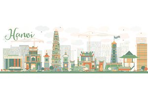 Abstract Hanoi skyline