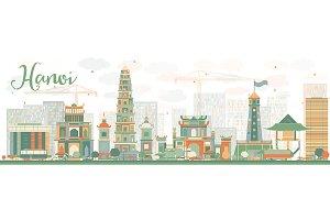 Abstract Hanoi skyline