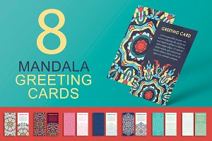 Mandala greeting cards set
