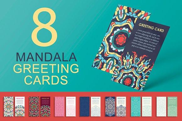 Mandala Greeting Cards Set
