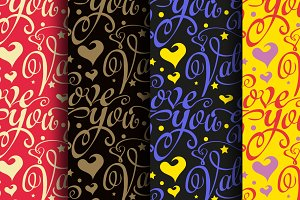 Valentine's Day colorful patterns