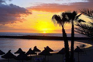 Las Americas beach,Tenerife.
