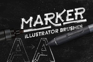 Marker Illustrator Brushes