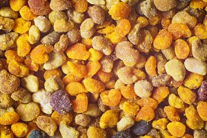 Bee pollen closeup .
