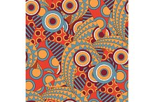 Seamless pattern with african style