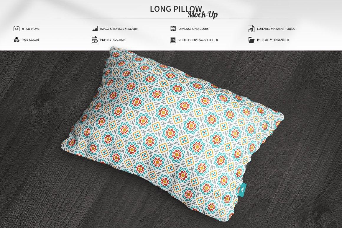 Long Pillow Mock-Up ~ Product Mockups ~ Creative Market