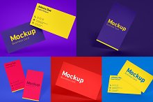 Five Floating Business Card Mockups