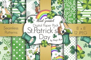 St.Patrick's Day Seamless Patterns