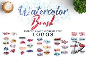 Watercolor & Brush Logos