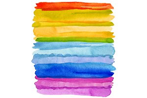Watercolor brush strokes. Isolated