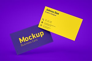 Floating Business Card Mockups