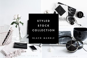 Styled Stock Bundle, Black Marble