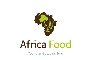 Africa Food Logo Template