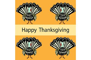 Happy Thanksgiving Turkey holiday background