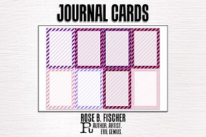 Journal Cards (Diagonal Stripes)