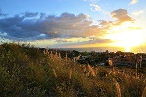Costa Adeje at sunset,Tenerife.