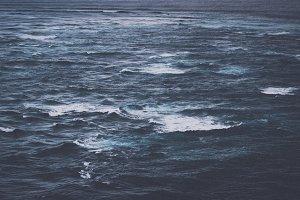 Dark Ocean and Waves