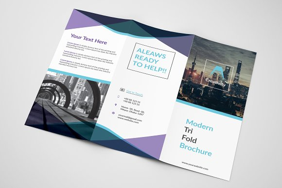 unique trifold brochure brochure templates creative market