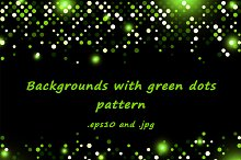 Backgrounds with green dots pattern