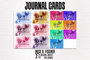 15 Journal Cards (Valentine)