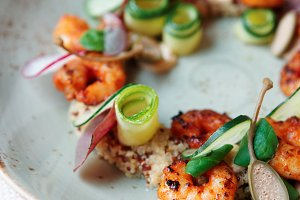 Healthy appetizer with quinoa