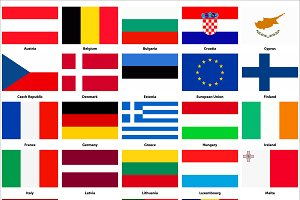 All flags of the European Union