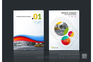 Business vector. Brochure template layout, cover design annual r