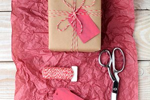 Christmas Present Red Tissue Paper