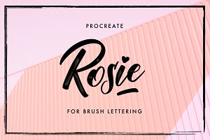 Rosie - Procreate Lettering Brush