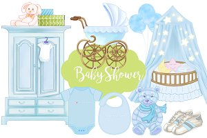Baby Shower Baby Boy Patterns