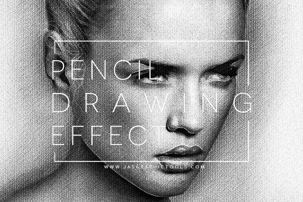 Realistic pencil drawing effect actions creative market