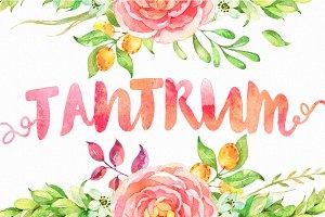 Tantrum Typeface + Bonus Artsy Kit!