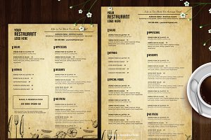 food menu template id26 brochure templates creative market