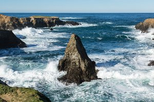 Rocky Pacific Coast Near Mendocino, California