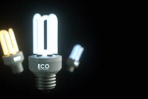 Energy saving lamp.