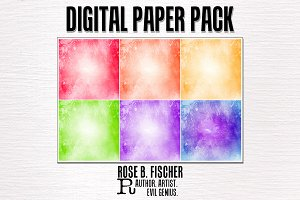 Digital Paper Pack (Grunge Rainbow)