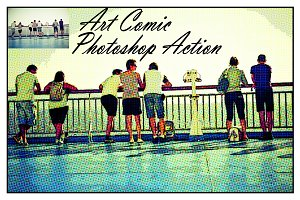 Art Comic Photoshop Action