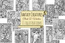 Fantasy creatures set 2