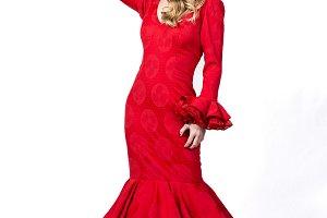 young flamenco dancer