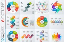 12 infographic templates 6 options