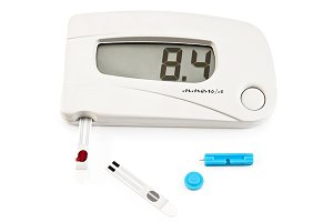 Glucometer with medication and hand
