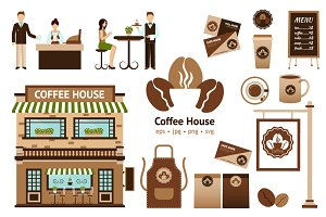 Coffee House Vector Set