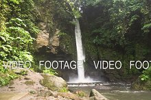 Beautiful tropical waterfall. Philippines Camiguin island.