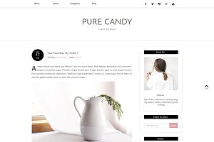 Blogger Template - PURE CANDY