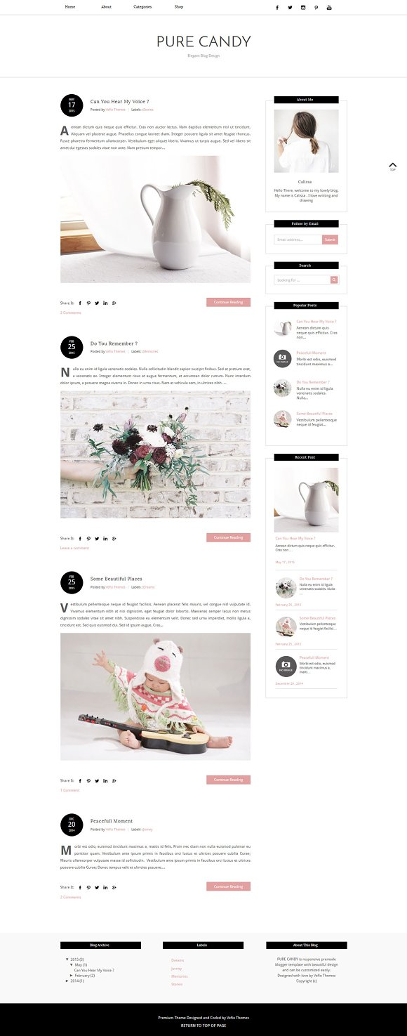 Blogger Template PURE CANDY