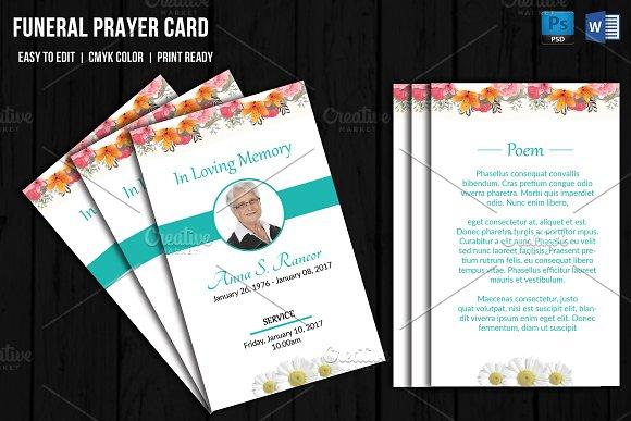 Funeral Prayer Card Template-V656