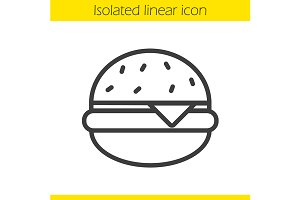 Hamburger linear icon. Vector
