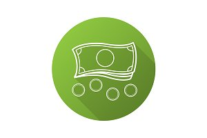 Money icon. Vector