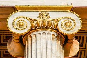 capital of Ionian column, light HDR