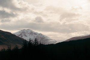 Scottish Mountains at Sunset